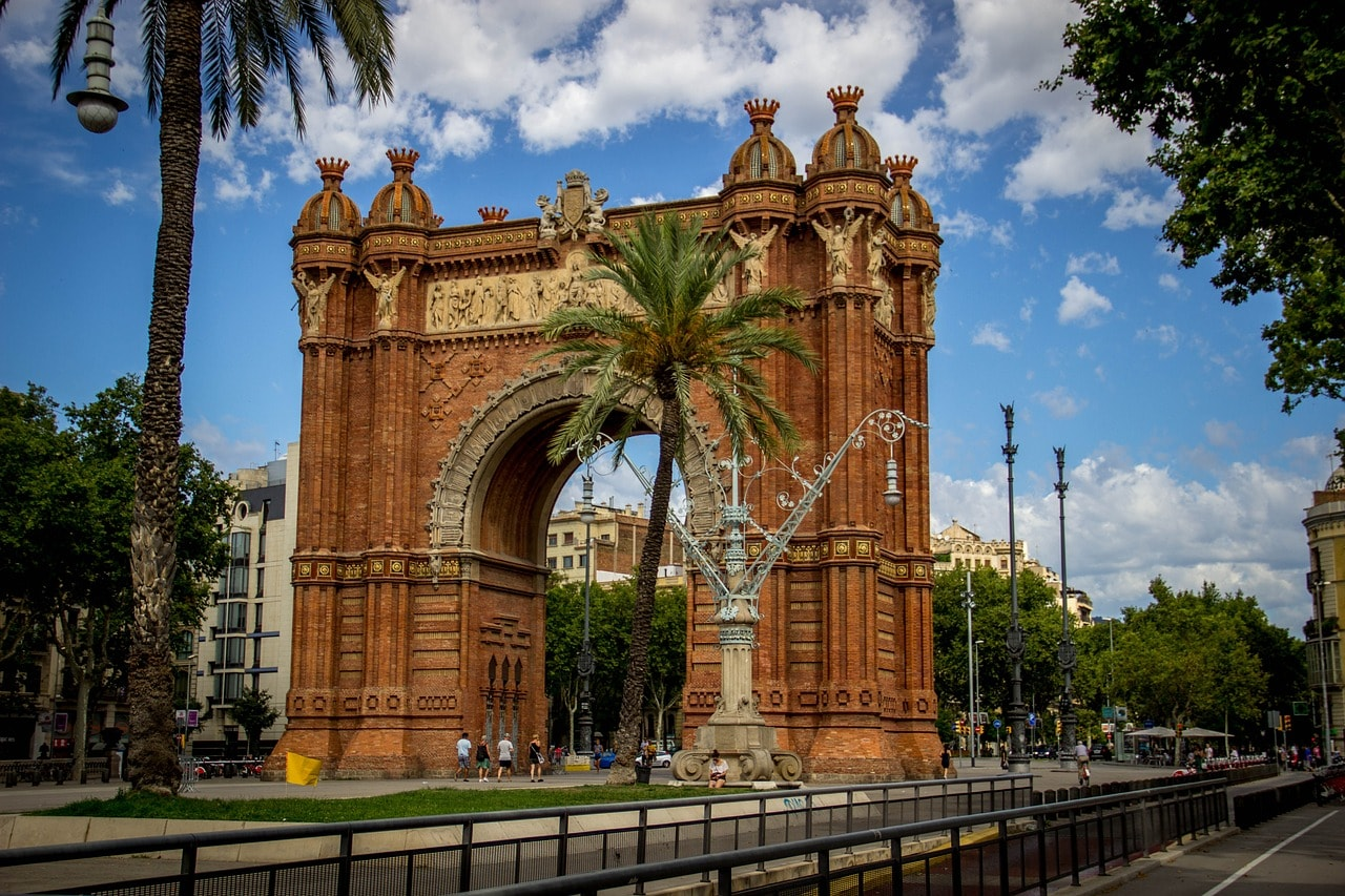 The Arc de Triomf in Barcelona CC0 Pixabay