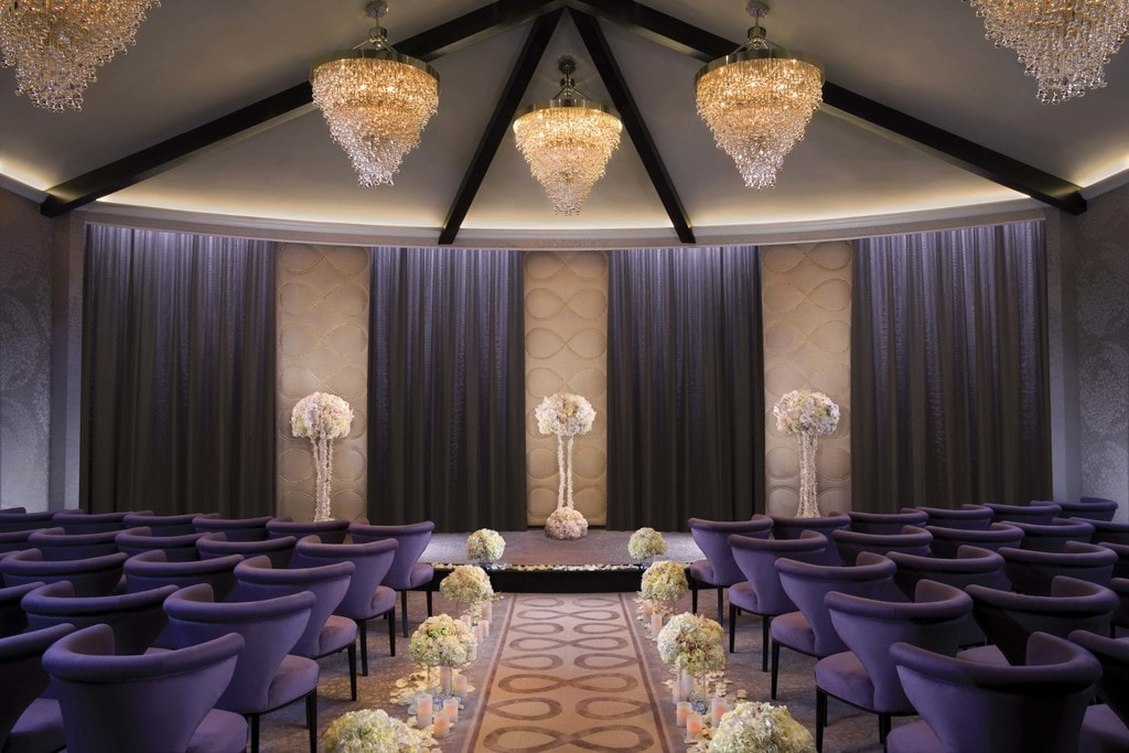 Inside the Aria's wedding chapel | Courtesy of MGM Properties