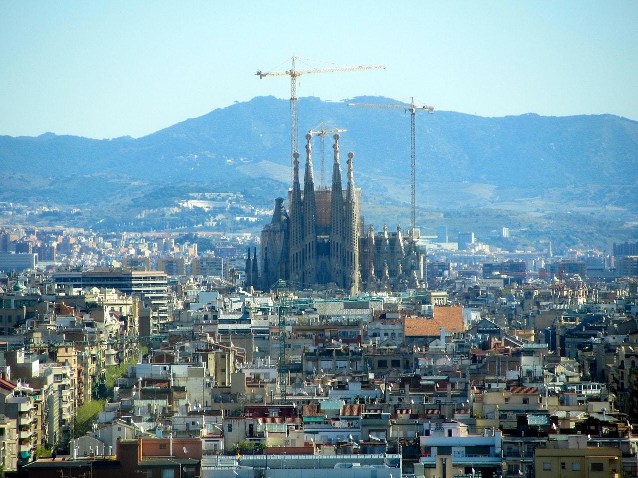 The Sagrada Família is still under construction today CC0 Pixabay