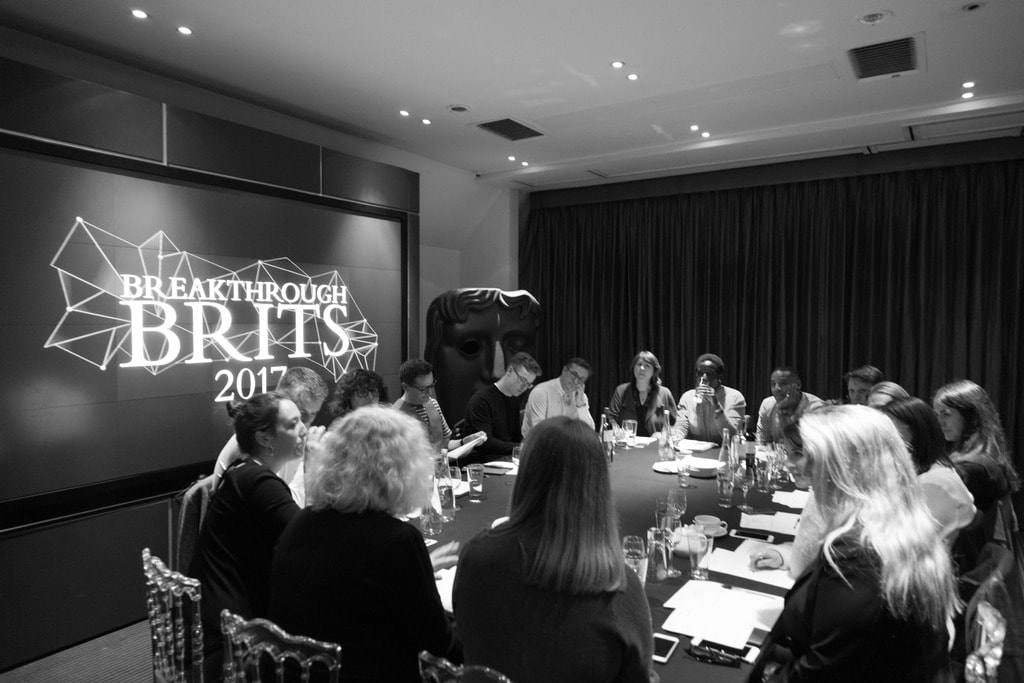 The 2017 Breakthrough Brits Jury at their first meeting | © Bafta
