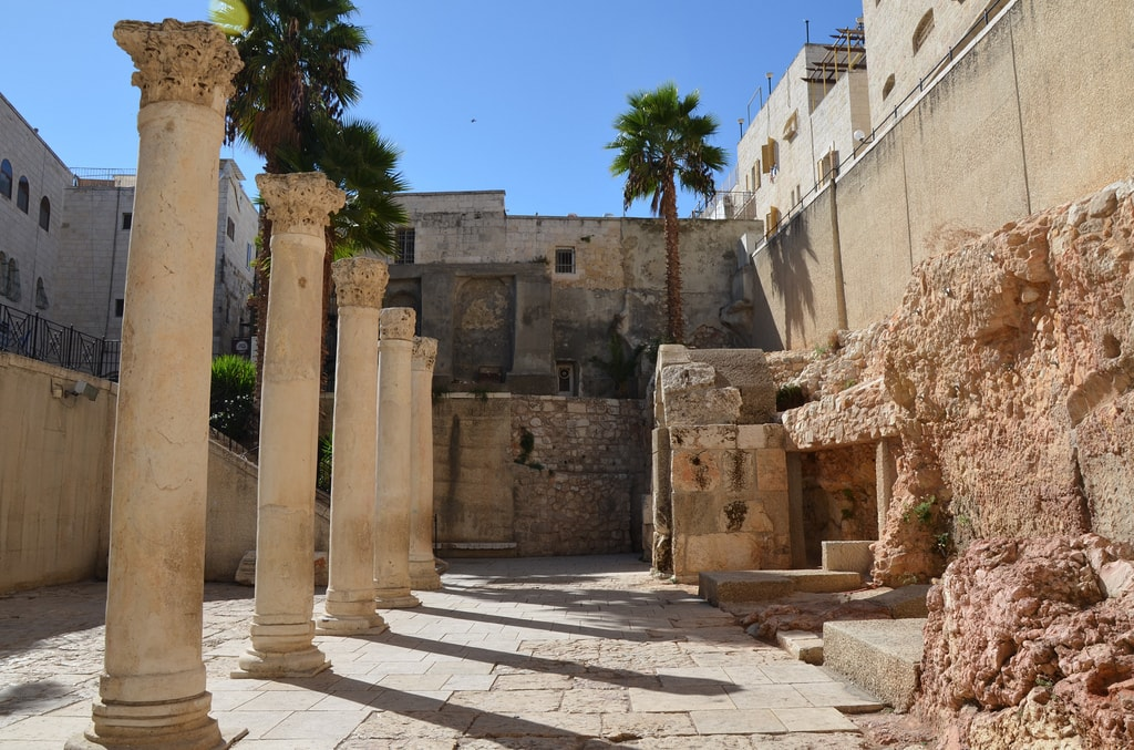 Reconstructed southern section of the Cardo, Jerusalem