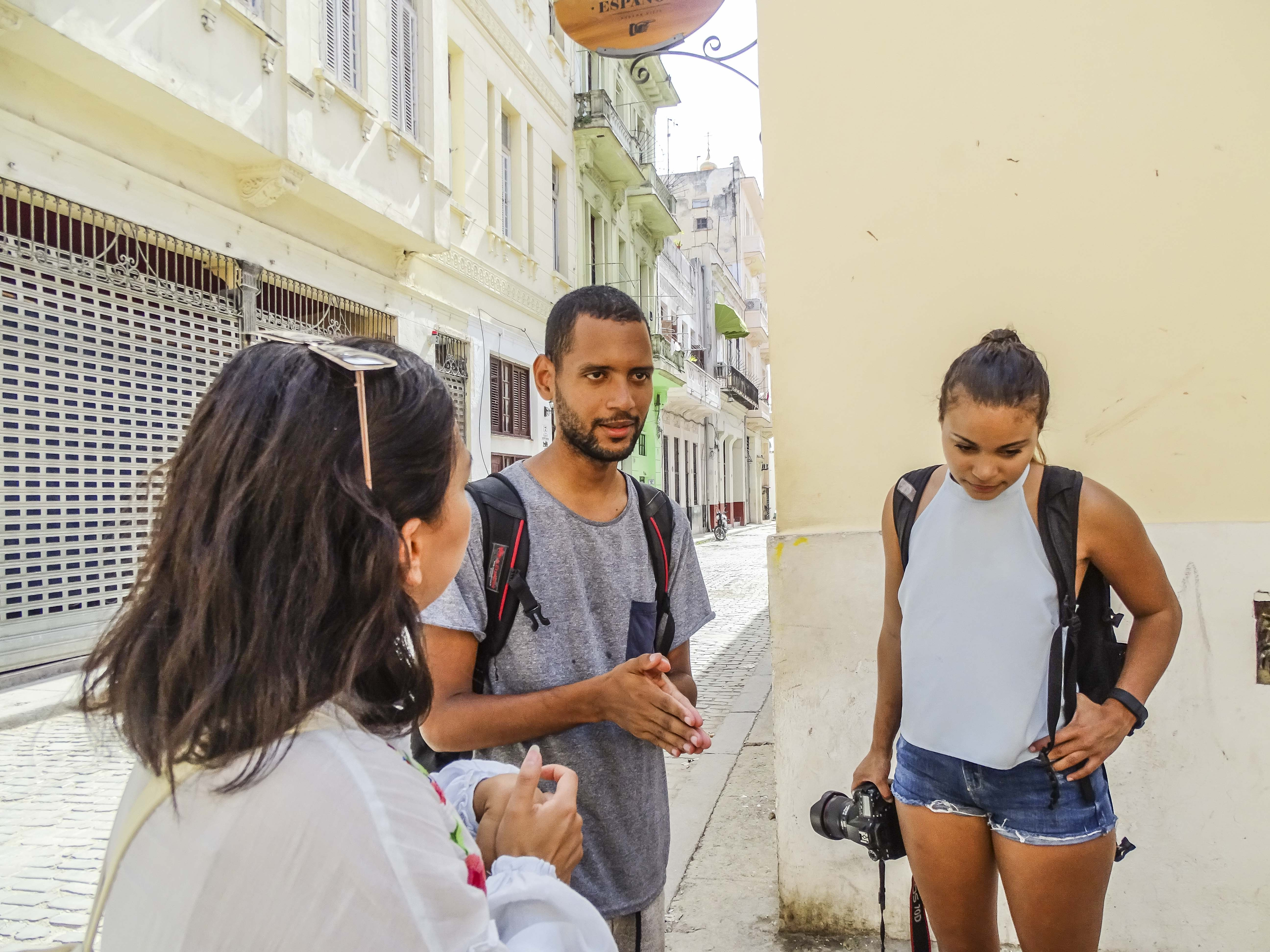 Architectural tour with Nguyen Barrera (center)   © Amber C. Snider