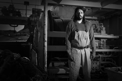 Daði, deckhand on the fishing vessel, Suðurey ve, from Vestmannaeyjar | Courtesy of Rúnar Þórarinsson