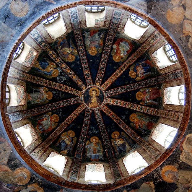 Dome of the parecclesion in Chora Church | © Take Away/Wikicommons