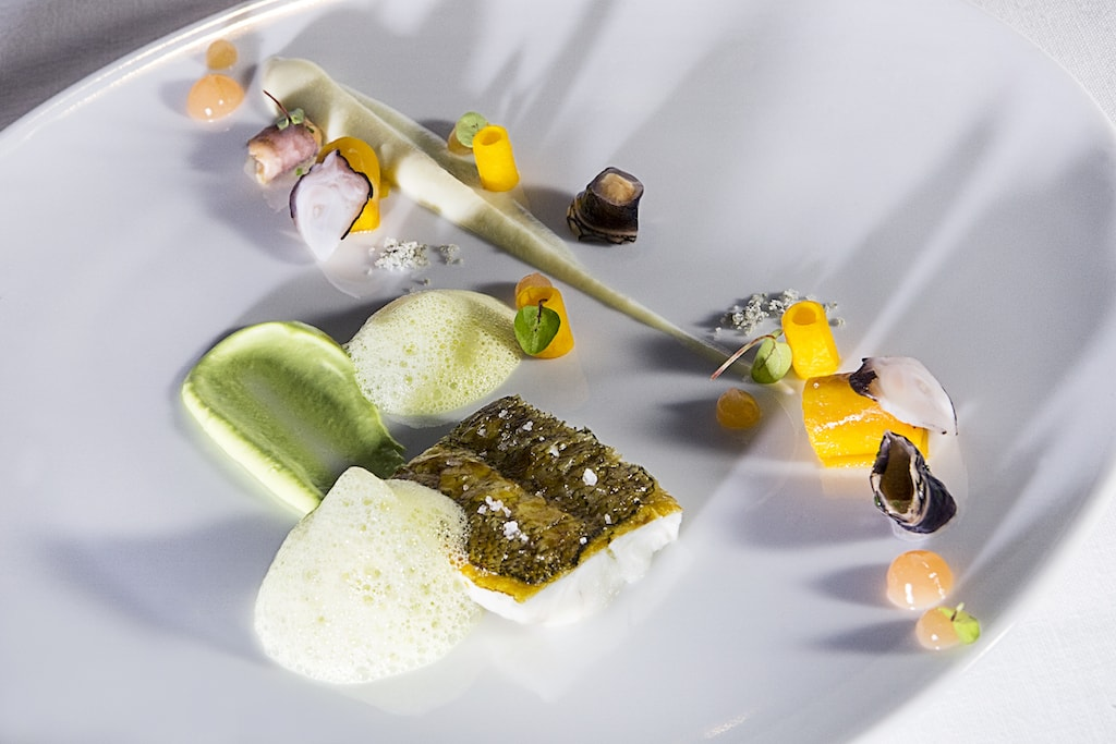 Grilled sole with goos barnacles and saffron Courtesy of Lasarte