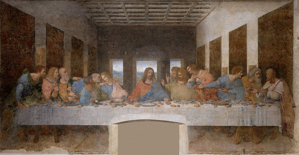 Leonardo da Vinci, The Last Supper (1498) | Source: WikiCommons