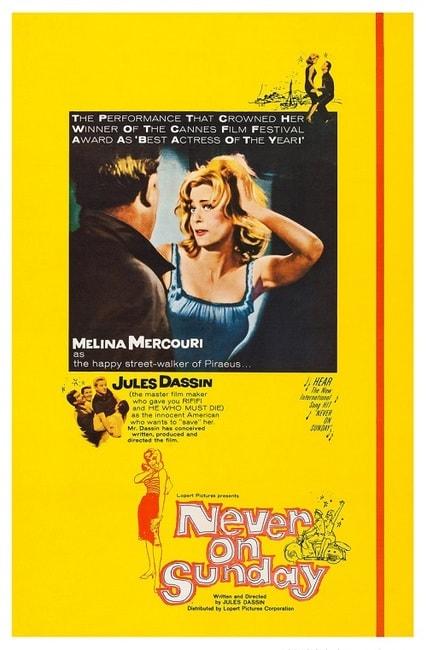 <em>Never on Sunday</em> (<em>Pote Tin Kiriaki</em>) | Courtesy of Lopert Pictures Corporation, Melinafilm