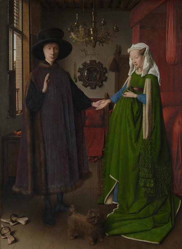 Jan van Eyck, Portrait of Giovanni (?) Arnolfini and his Wife (1434) | Courtesy of The National Gallery