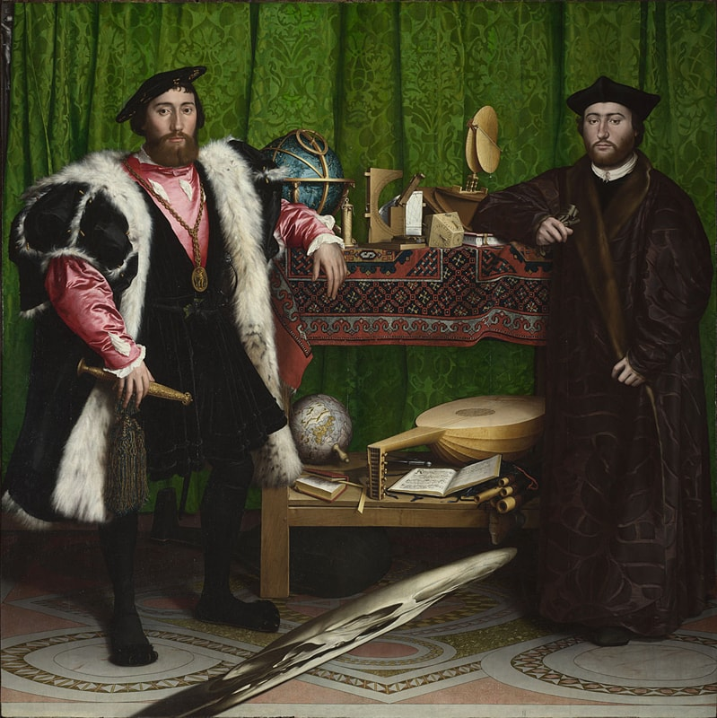 Hans Holbein the Younger, Jean de Dinteville and Georges de Selve ('The Ambassadors') (1533) | Courtesy of The National Gallery/WikiCommons