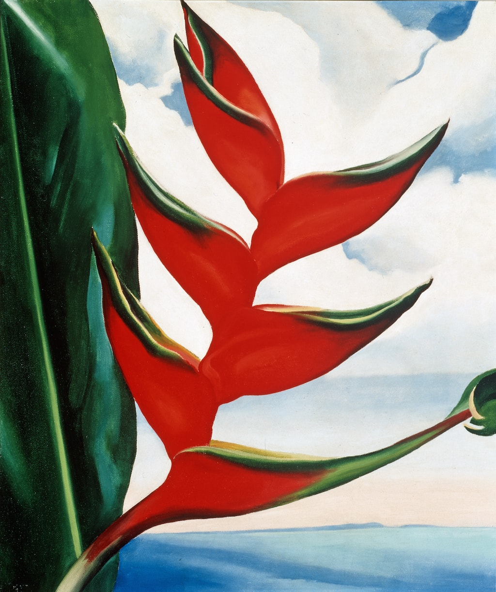 Georgia O'Keeffe, Heliconia—Crab's Claw Ginger, 1939. Collection of Sharon Twigg-Smith.