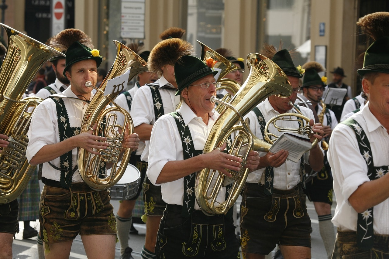 A traditional band at Oktoberfest CC0 Pixabay