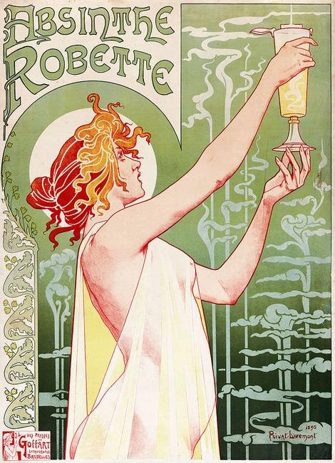 Henri Privat-Livemont, 'Absinthe Robette', 1896 | Wiki Commons