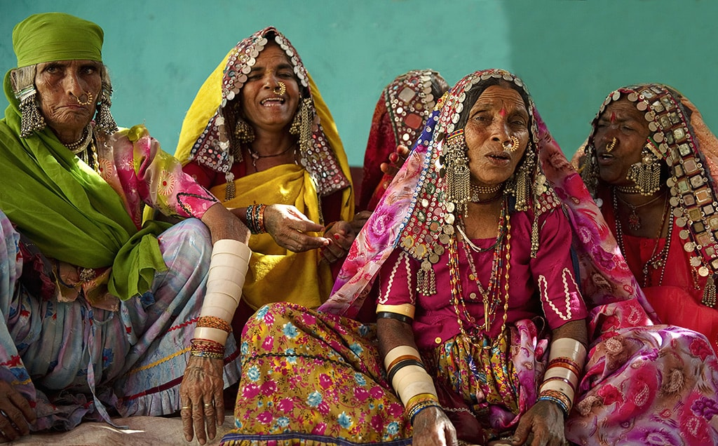 Tribal women in Kutch wear extremely colourful and heavily embroidered clothes | © Eye Ubiquitous / REX/Shutterstock