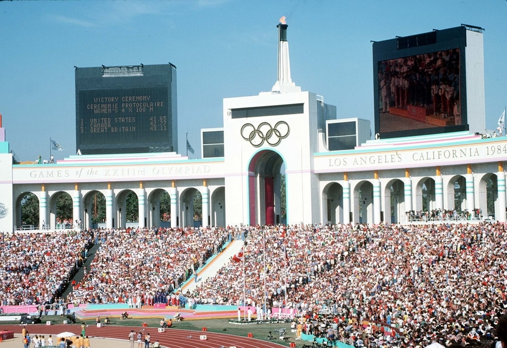 The Los Angeles Olympic Stadium in 1984   © Colorsport/REX/Shutterstock