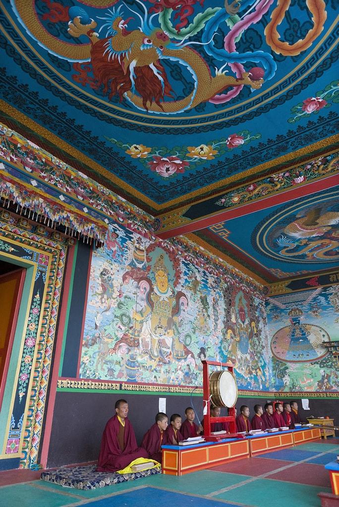 The colourful mural art in Tawang Monastery is spell binding | © Olaf Kruger / imageBROKER/REX/Shutterstock