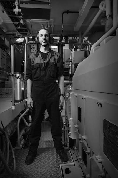 Halldór, engineer on the fishing vessel, Þórunn Sveinsdóttir ve, from Vestmannaeyjar | Courtesy of Rúnar Þórarinsson