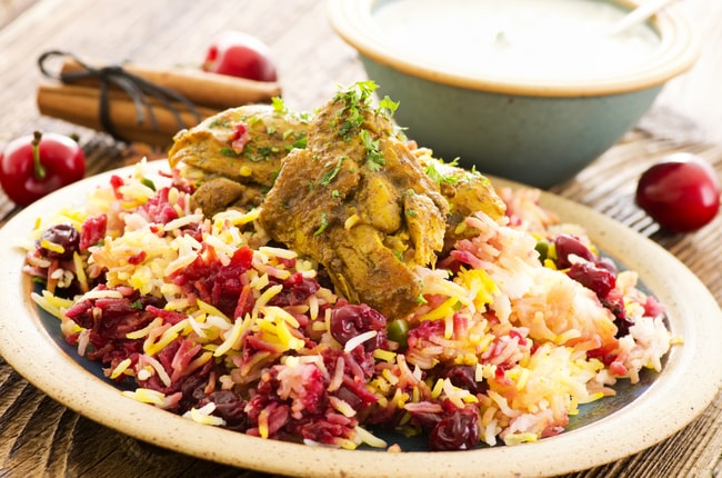 Persian Albaloo polo with sour cherries and chicken   © hlphoto/Shutterstock