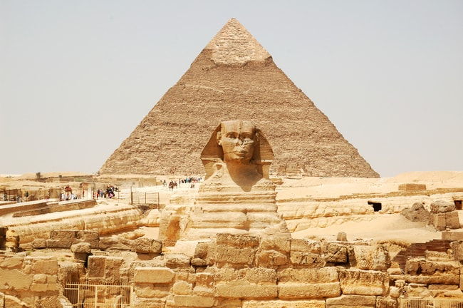 The Sphinx and a pyramid of Giza   © Nort/Shutterstock
