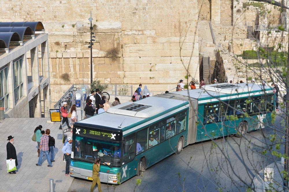 Bus outside the Old City of Jerusalem   ©StockphotoVideo/Shutterstock