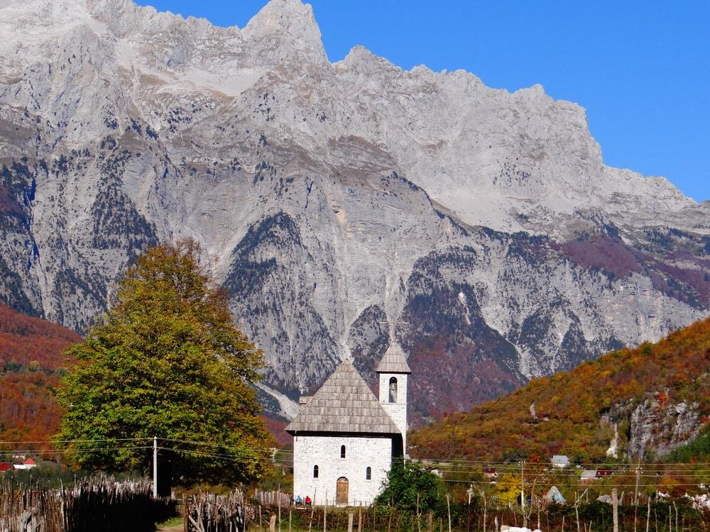 Albanian Alps In Autumn, Albania