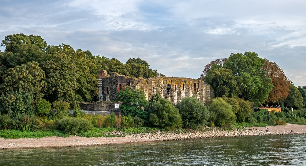 """View of the ancient castle """"Kaiserpfalz"""" of Dusseldorf in Germany 