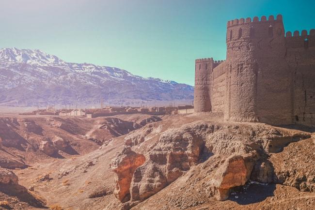Thick walls of Rayen Castle, near Bam, Iran   © aaabbbccc/Shutterstock