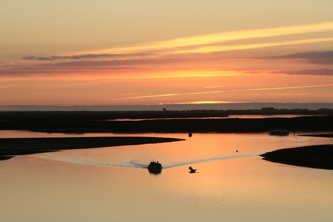 Sunset in the Ria Formosa, Algarve, Portugal | © Eric Valenne geostory/Shutterstock