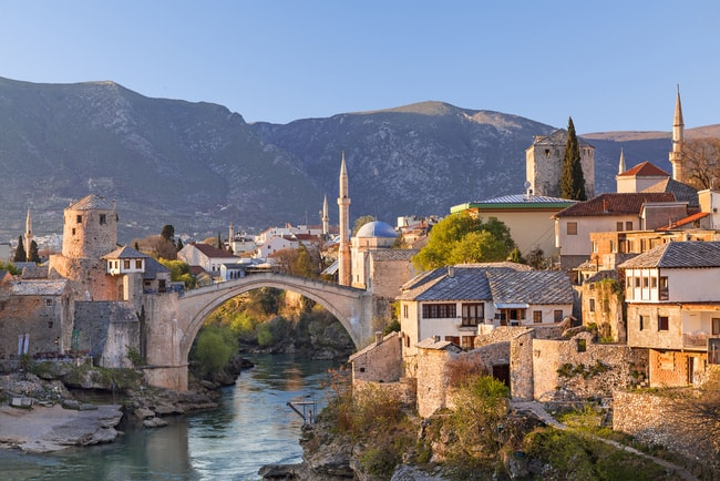 Skyline of Mostar in Bosnia and Herzegovina | © MehmetO/Shutterstock