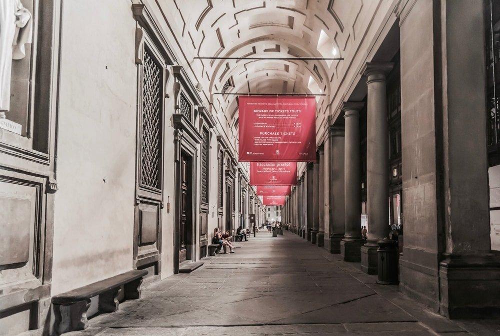 Gallery of the Uffizi, Florence, Italy | © DiegoMariottini/Shutterstock