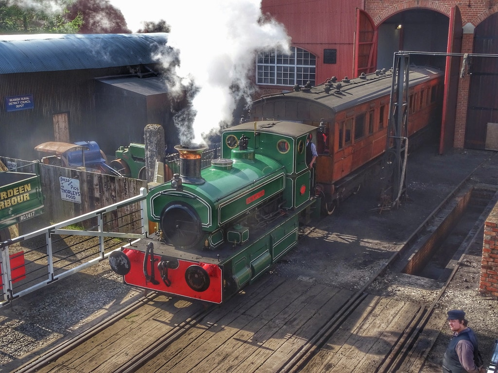Steam engine at Beamish