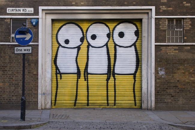 Example of Stik's work in East London | © Russell Darling