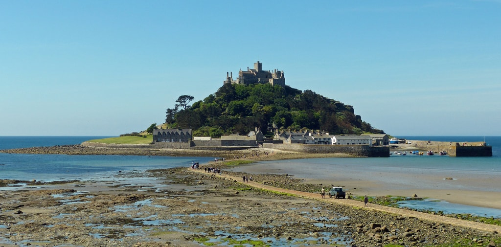 The causeway to St. Michael's Mount