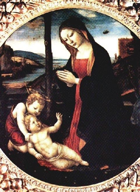 Domenico Ghirlandaio, The Madonna with Saint Giovannino (15th century) | Source: WikiCommons