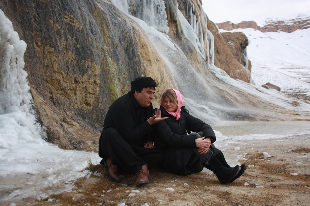 Salim Shaheen and Sonia Kronlund on location in Afghanistan | © Vertigo Films