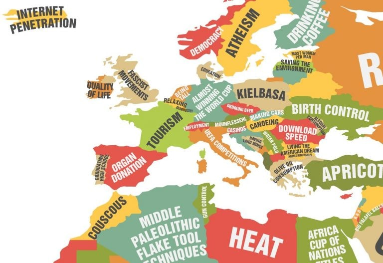 This very funny map shows what every country rules the world in gumiabroncs Choice Image