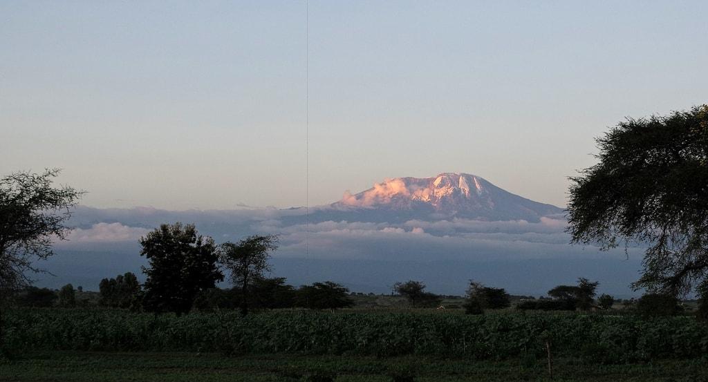 Mount Kilimanjaro at sunset