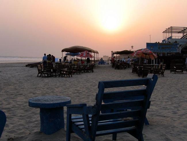 Labadi beach sunset