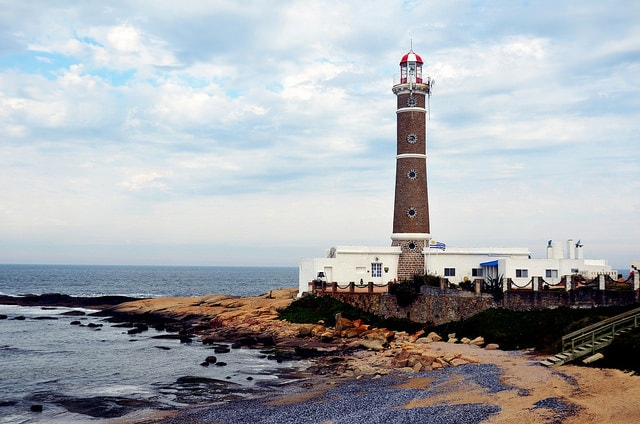 Lighthouse in José Ignacio beach, Maldonado, Uruguay