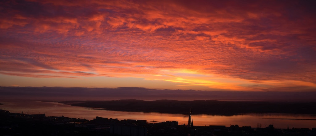 Sunset View From Dundee Law
