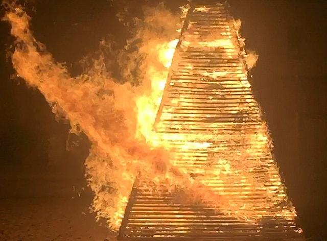 Fire burning in San Juan Night