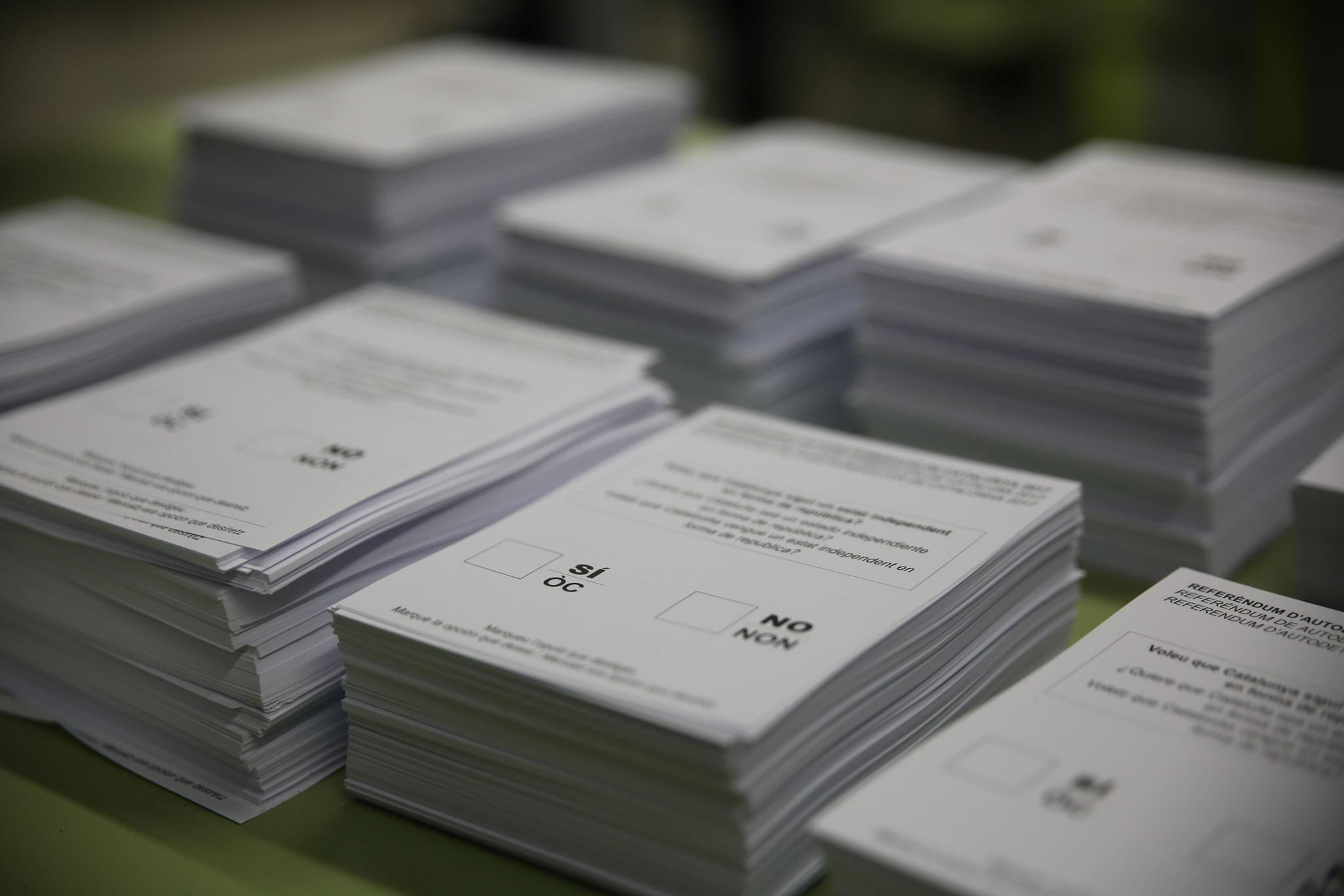 Referendum ballot papers © HazteOir.org