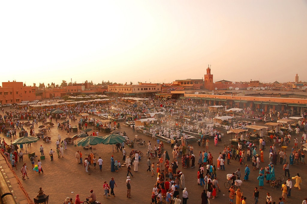 Overlooking Marrakech's main square | © Alan & Flora Botting / Flickr