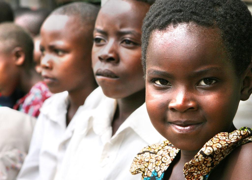 Smiling Tanzanian school girl