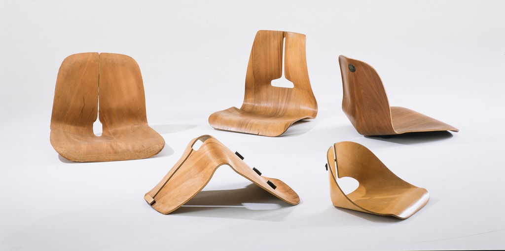 48. Experimental moulded plywood seat shells, 1941-45. ∏ Vitra Design Museum, Photo Thomas Dix_low