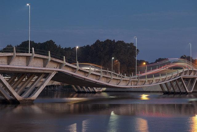 La Barra bridge, Punta del Este, Uruguay
