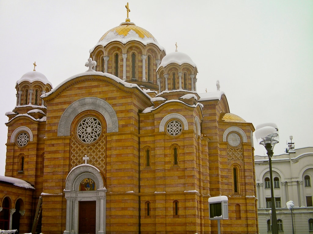 Christ the Saviour's Cathedral covered in snow | ©Tony Bowden/Flickr