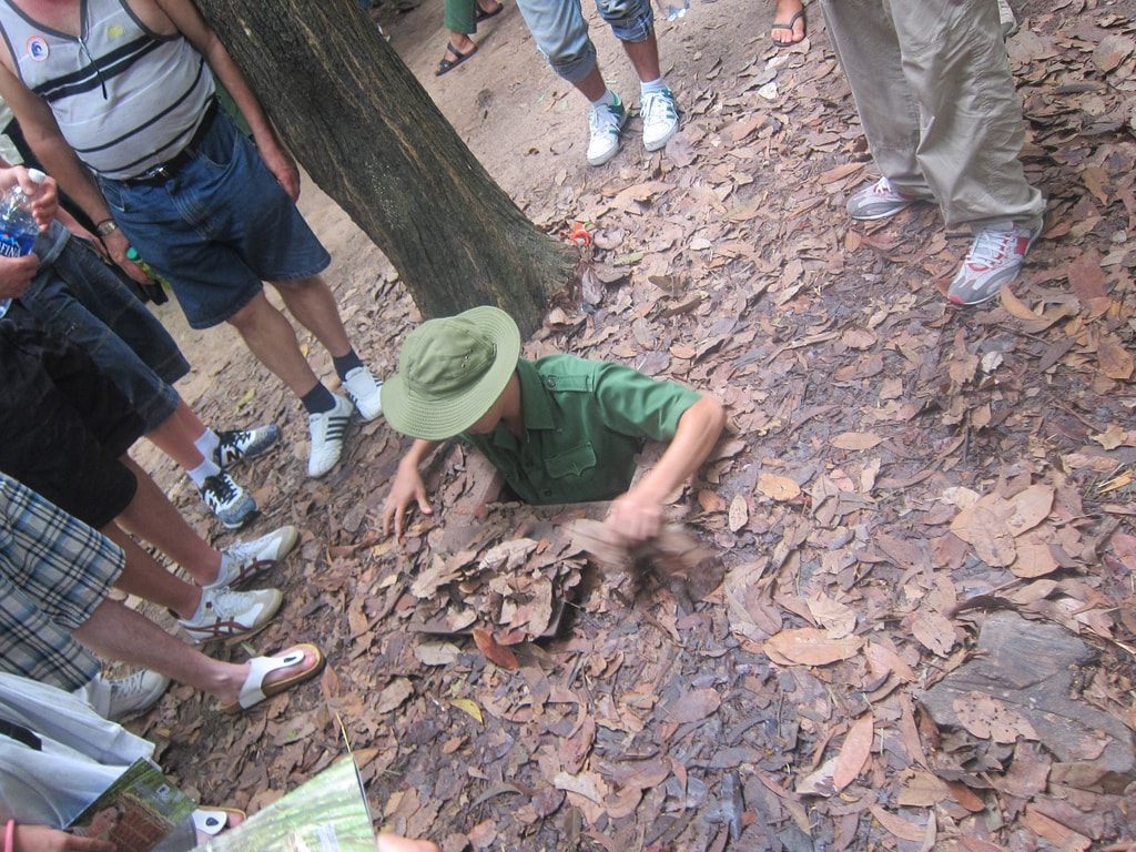 Tiny entrance to the Cu Chi Tunnels | © UnorthodoxY/Flickr
