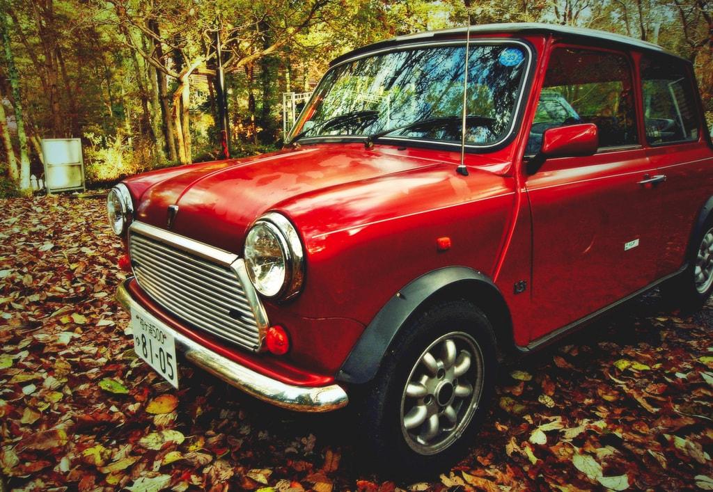 An early Mini car