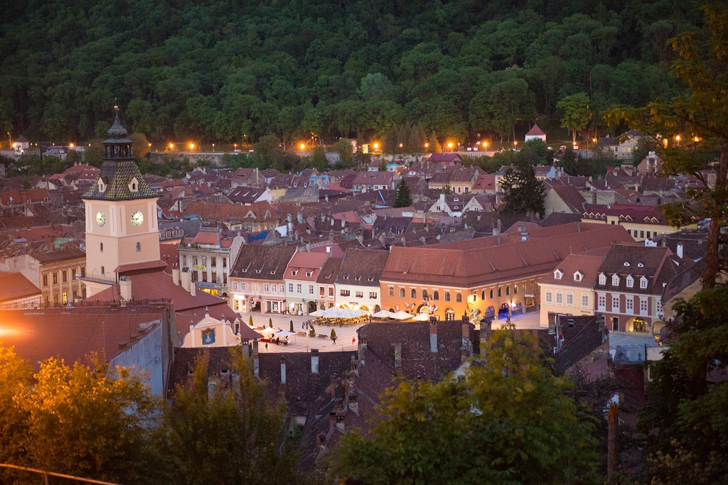 Brasov in the evening