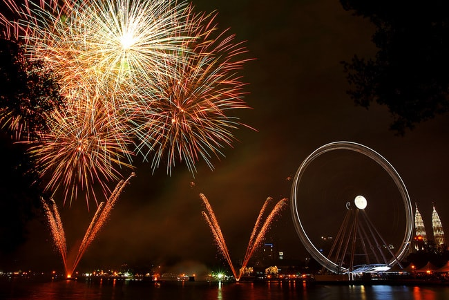 Fireworks at The Eye of Malaysia, KL